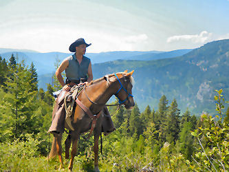 Horse Pack Trips into the North-Okanagan Wilderness