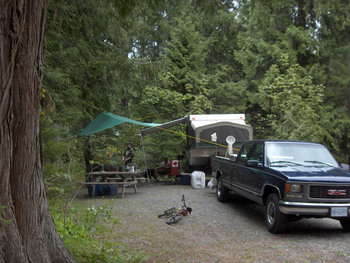 Lovely campsites with power and water for your convenience.