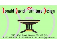 Donald David Furniture Design, Donald Martz, Vernon