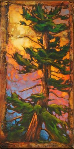 The Painting Un Pine By David Langevin Was Piece De Resistance For His Exhibit At Studio Connexion Gallery In October 2011