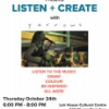 PDCAC Presents Listen + Create with Yarrows